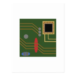 Computer Motherboard Postcard