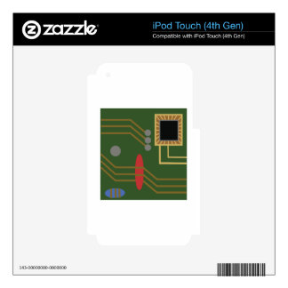 Computer Motherboard Skins For iPod Touch 4G
