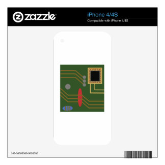 Computer Motherboard Skins For iPhone 4S