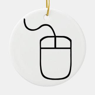 Computer Mouse Ceramic Ornament