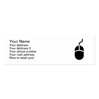 Computer mouse Double-Sided mini business cards (Pack of 20)