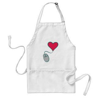 Computer mouse heart computer mouse heart apron