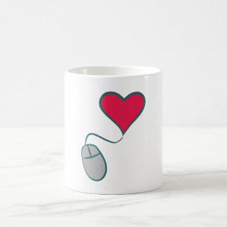 Computer mouse heart computer mouse heart mug