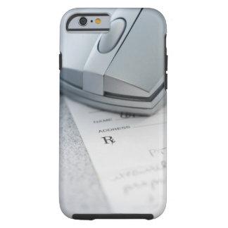 Computer mouse on written prescription tough iPhone 6 case