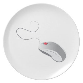 Computer Mouse Party Plates