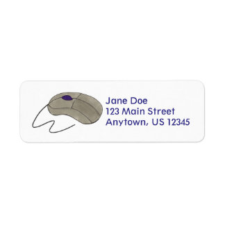 Computer Mouse Tech Techie Return Address Labels
