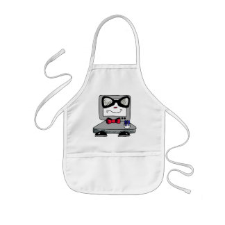 Computer Nerd Geek Apron for Kids
