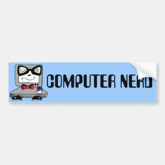 Computer Nerd Geek Bumper Sticker Car Bumper Sticker