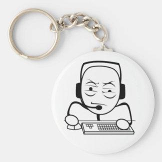 Computer Nerd Internet Meme Rage Face Keychains