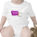 Computer Nerd Twin Baby 1 of 2 (ctrl C) Onsies Tshirts