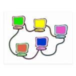 Computer Network Postcard