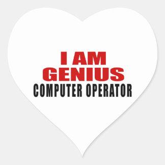 COMPUTER OPERATOR DESIGNS HEART STICKER
