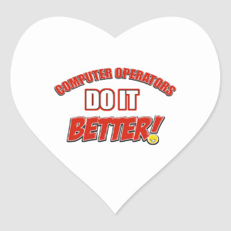 Computer Operators designs Heart Sticker