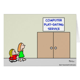 computer play dating service card