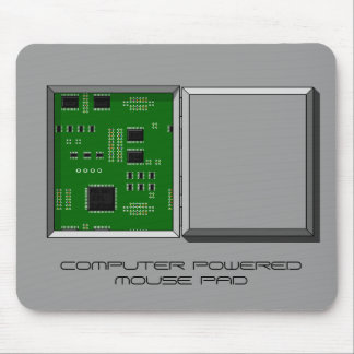 """COMPUTER POWERED MOUSE PAD"" hatch & circuit board Mouse Pad"