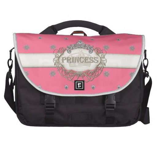Computer Princess Jewel Bling Crown Personalized Bag For Laptop
