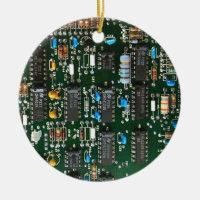 Computer Printed Circuit Board Ceramic Ornament