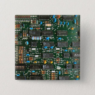 Computer Printed Circuit Board Pinback Button