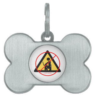Computer Privacy (Red Cross-Out Geek Humor) Pet Tag