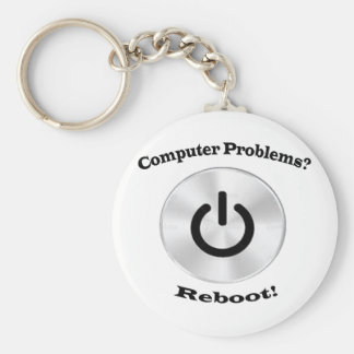 Computer Problems Black Letters Keychain