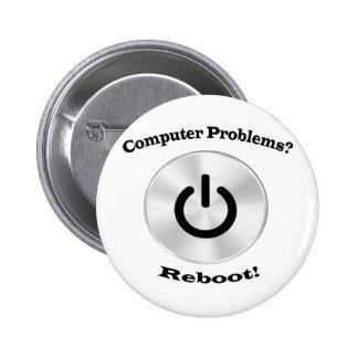 Computer Problems Black Letters Pinback Button