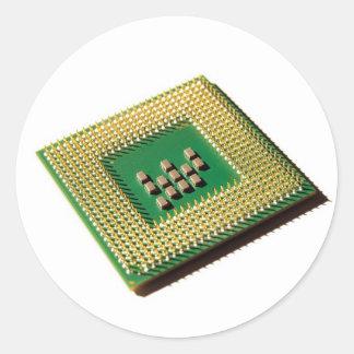 Computer processor classic round sticker