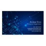 Computer Programmer Business Card Light Circuits