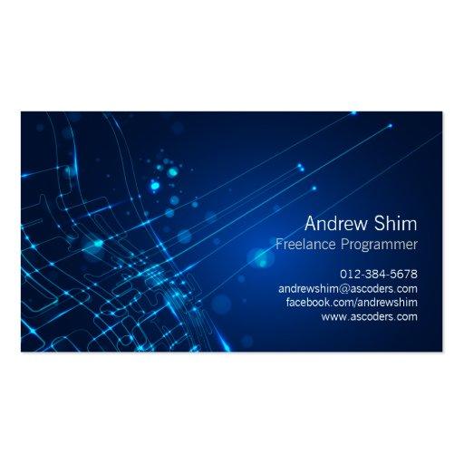 Computer Programmer Business Card Light Circuits