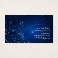Computer Programmer Business Card Light Circuits at Zazzle