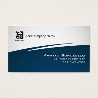 Computer Programmer Business Card Simple Zig Zag
