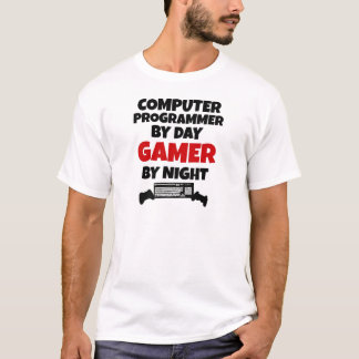 Computer Programmer by Day Gamer by Night T-Shirt