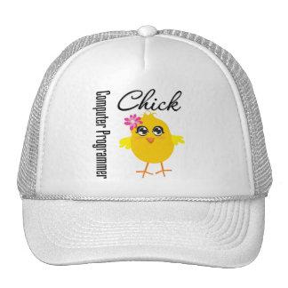 Computer Programmer Chick Mesh Hats