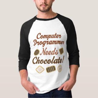 Computer Programmer Chocolate T-Shirt