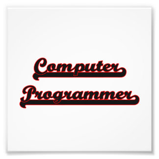 Computer Programmer Classic Job Design Photo Print