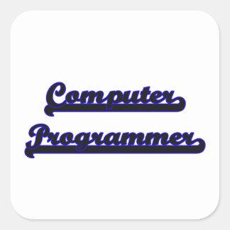 Computer Programmer Classic Job Design Square Sticker