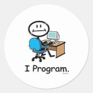 Computer Programmer Classic Round Sticker