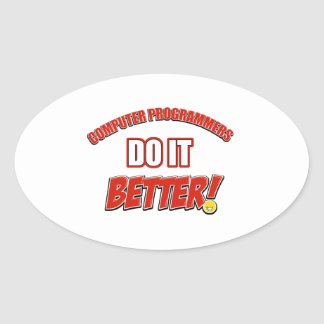 Computer Programmer designs Oval Sticker