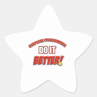 Computer Programmer designs Star Sticker