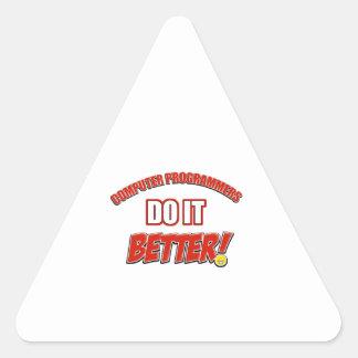 Computer Programmer designs Triangle Sticker