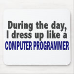 Computer Programmer During The Day Mouse Pad
