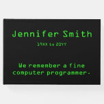 [ Thumbnail: Computer Programmer Funeral/Memorial Guest Book ]