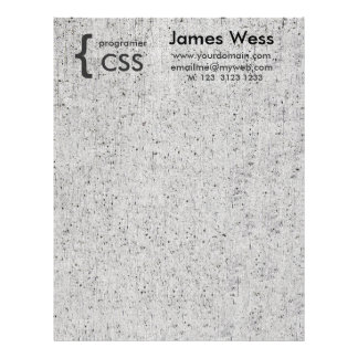 Computer Programmer  Geek Web Designer Computer Letterhead