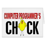 Computer Programmer's  Chick Cards