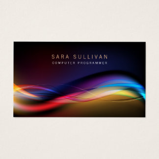 Computer Programmer Technical Skills Light Streams Business Card