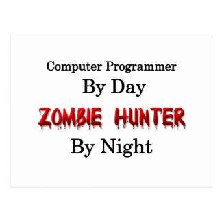 Computer Programmer/Zombie Hunter Postcard