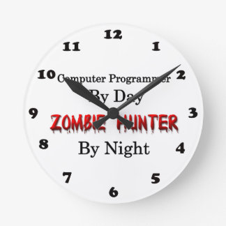 Computer Programmer/Zombie Hunter Round Clock
