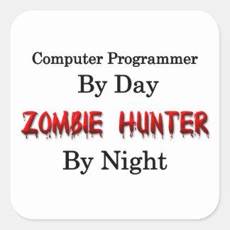 Computer Programmer/Zombie Hunter Square Sticker