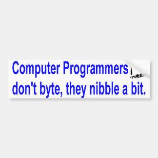 computer programmers bumper sticker