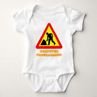 Computer Programming Funny Road Sign Humor Baby Bodysuit