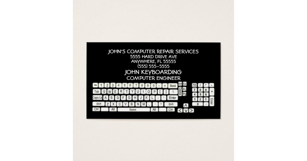 Computer Repair Business Card | Zazzle.com